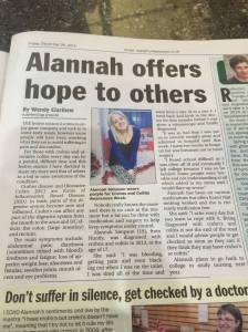 Alannah-Jayne news article