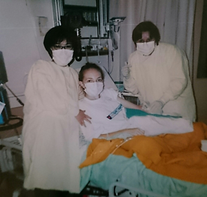 Ashley in hospital, aged 16
