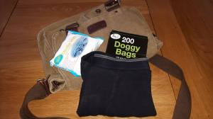 Little bag of supplies to keep at hand incase accidents happen, including spare underwear, sensitive skin wipes and bags